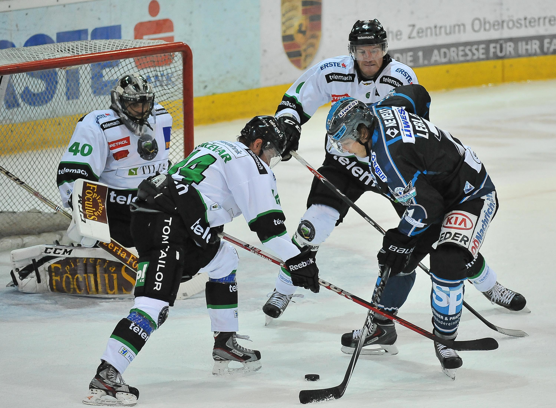 AUT, EBEL, Liwest Black Wings Linz vs HDD Telemach Olimpija Ljubljana