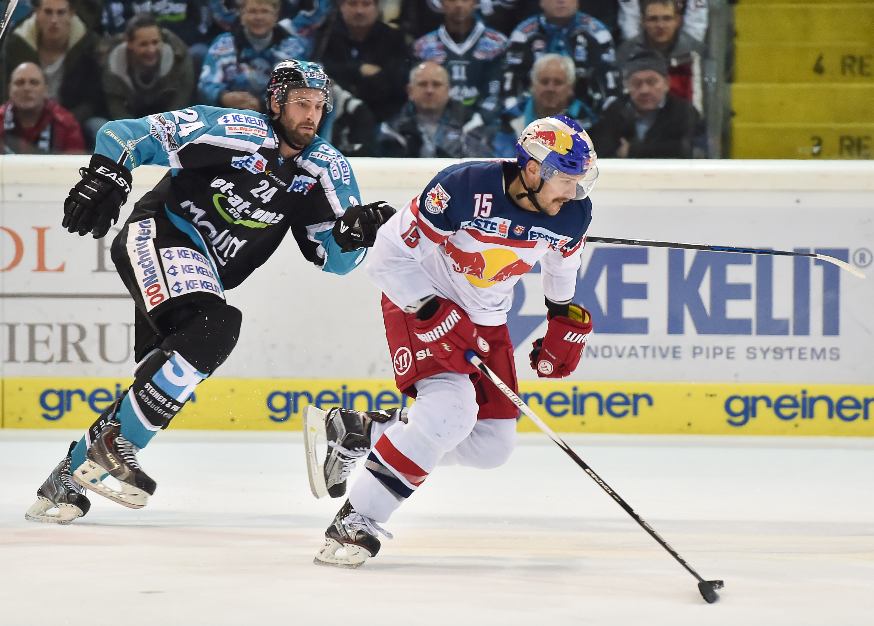 AUT, EBEL, Liwest Black Wings Linz vs EC Red Bull Salzburg