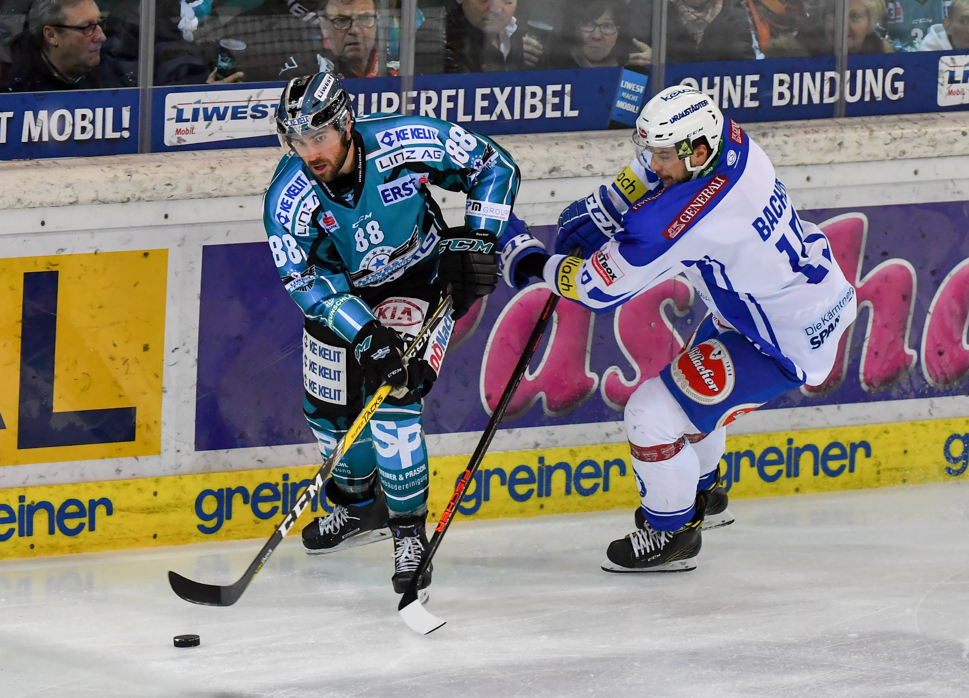 AUT, EBEL, Liwest Black Wings Linz vs EV Villacher SV