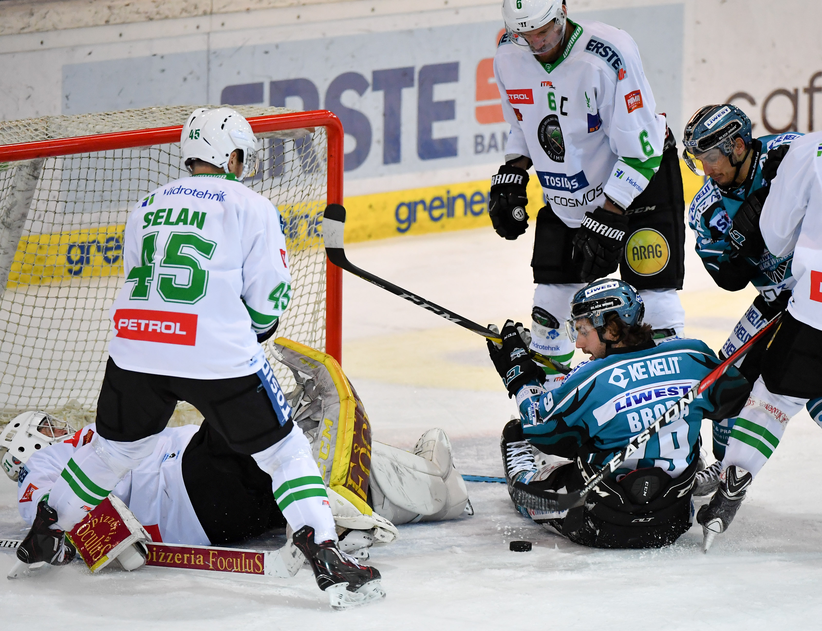AUT, EBEL, Liwest Black Wings Linz vs HDD Olimpija Ljubljana