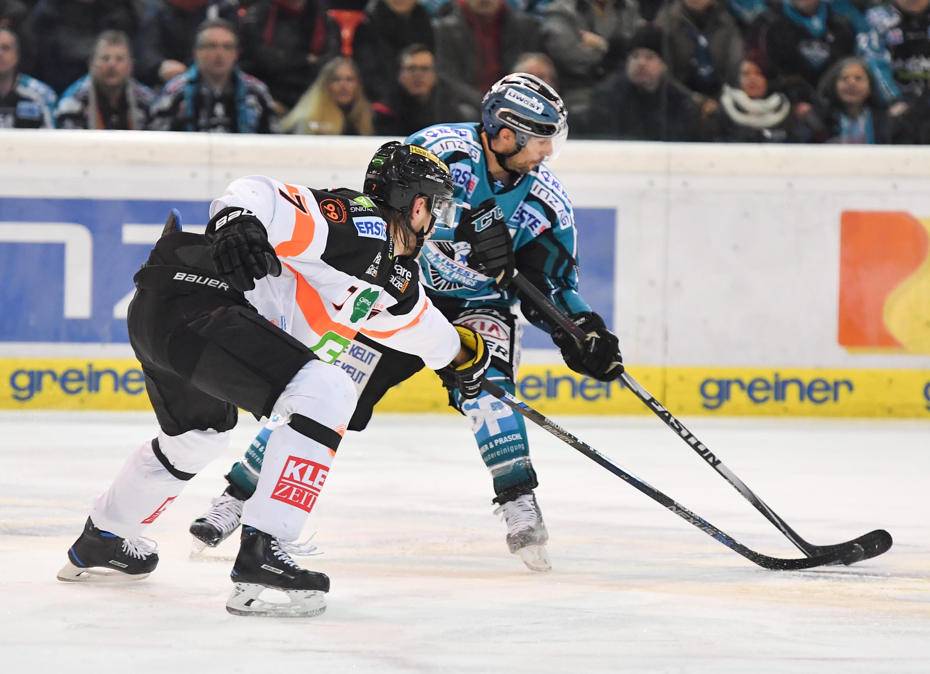 AUT, EBEL, Liwest Black Wings Linz vs Moser Medical Graz 99ers