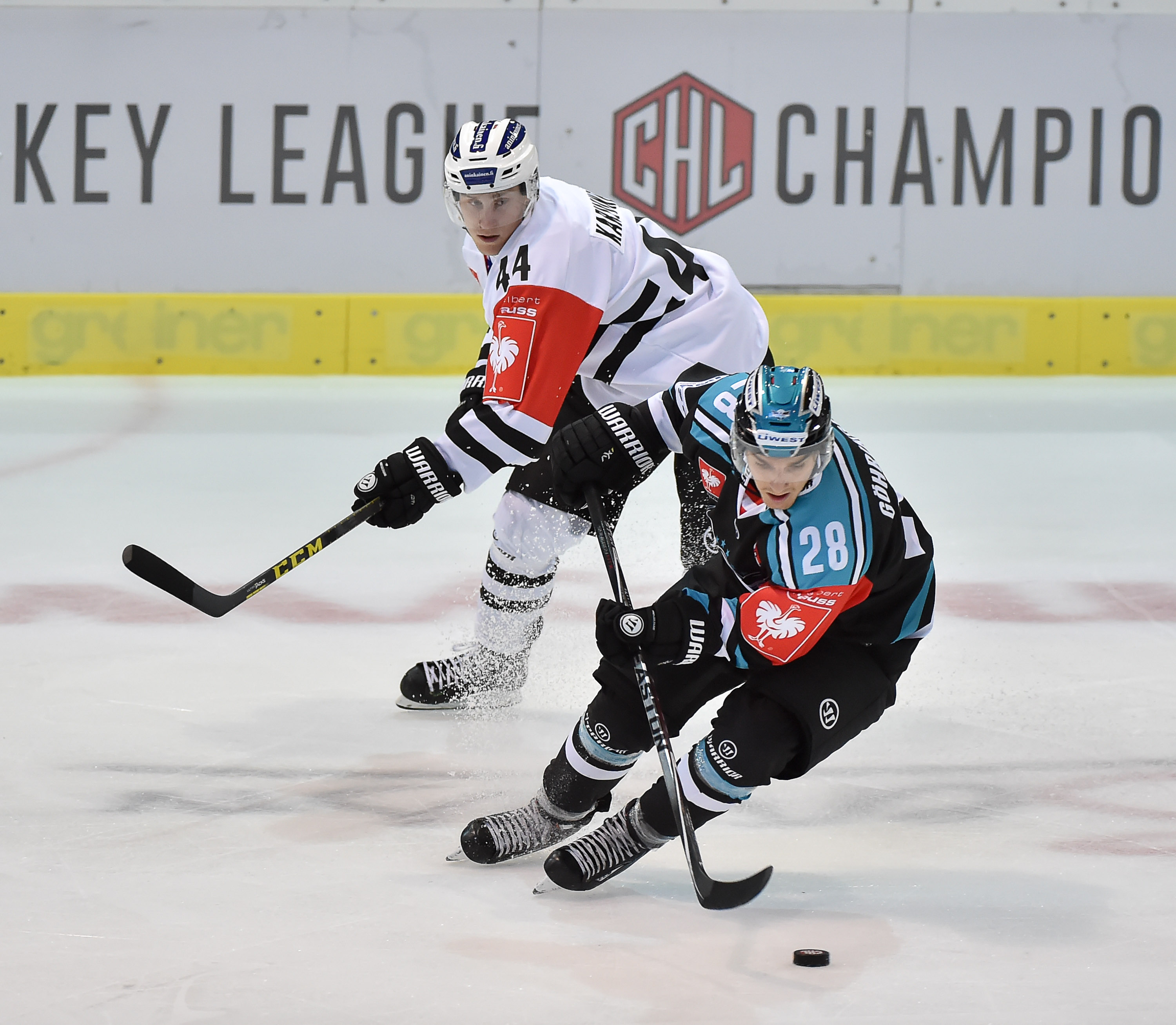AUT, CHL, Liwest Black Wings Linz vs TPS Turku