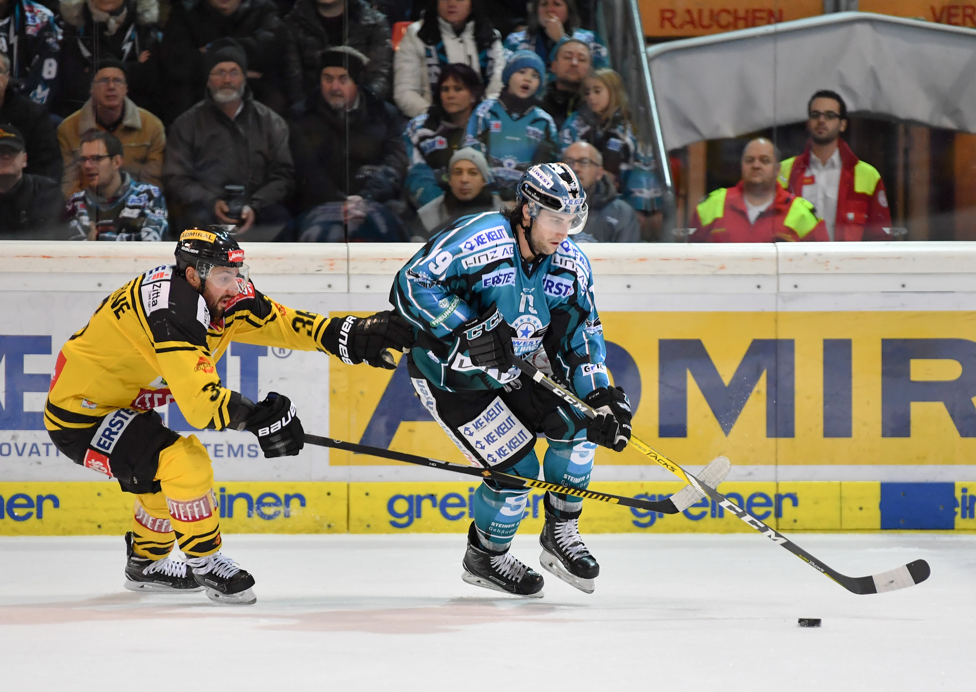 AUT, EBEL, Liwest Black Wings Linz vs UPC Vienna Capitals