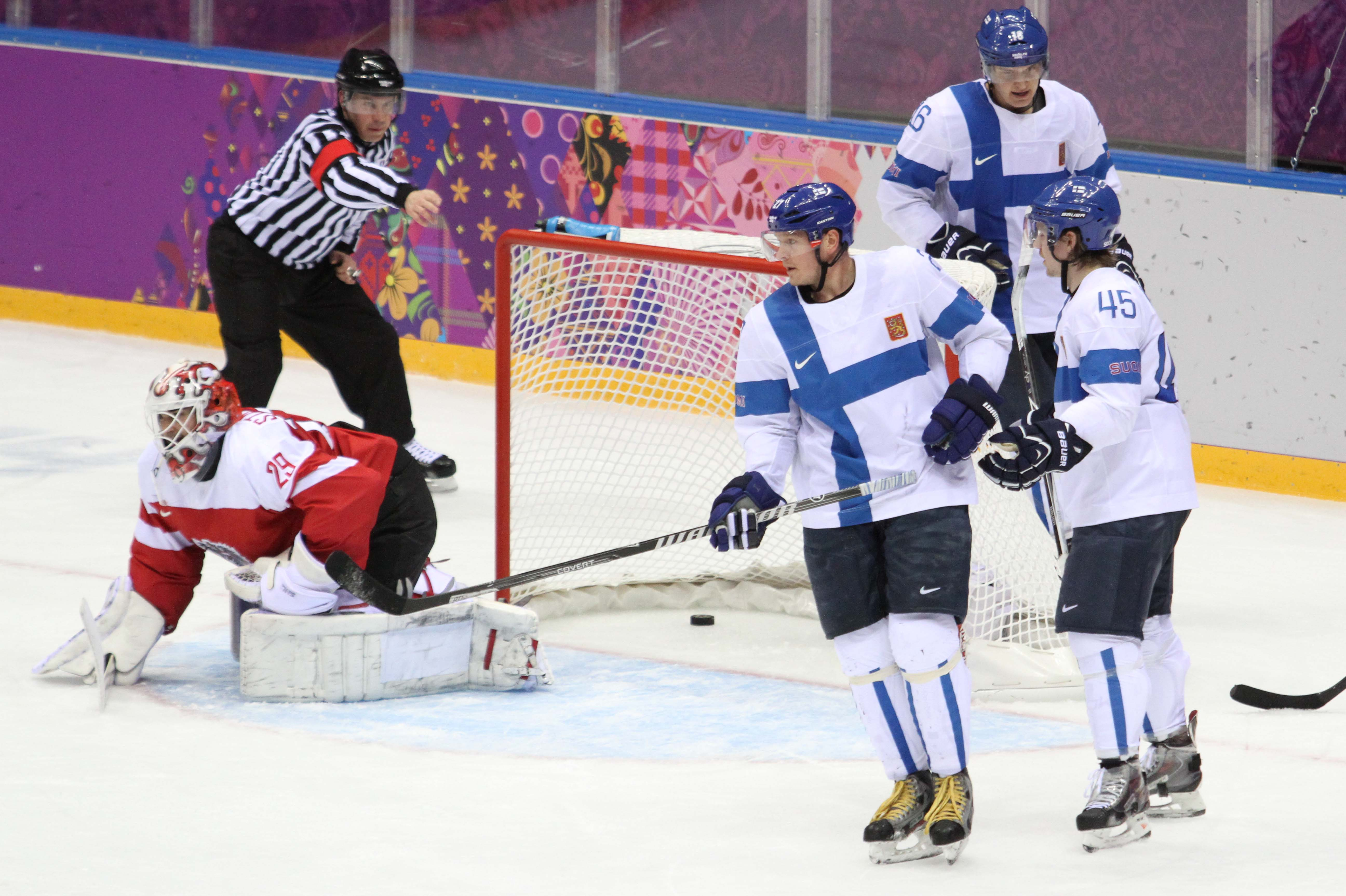 RUS, IIHF, Finnland vs Austria, 13.02.2014