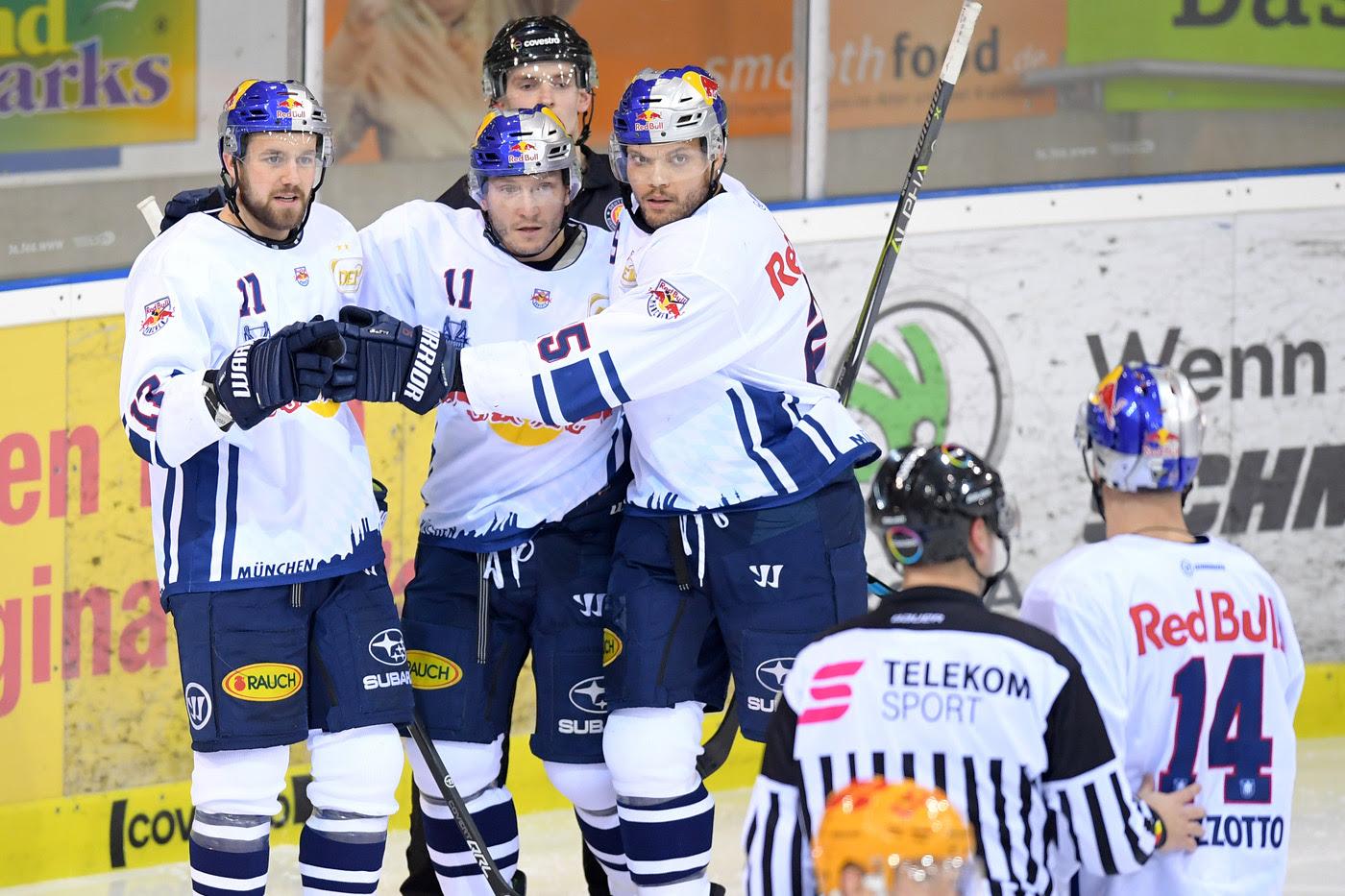 Eishockey- Meister München und Mannheim im DEL- Halbfinale